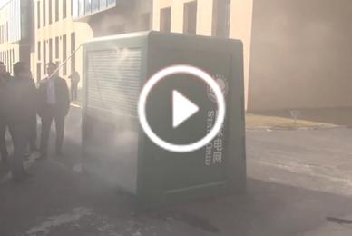 联众安消防参加电网灭火测评A+ 自动灭火装置灭火视频