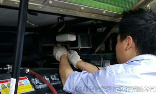 新能源公交电池舱灭火装置安装